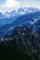 790600_0129_F1 Hohenwerfen Castle in the Austrian Alps South of the City of Salzburg