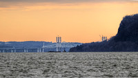 170128_0243_EOS M5 Construction of the New Tappan Zee Bridge at Dawn Seen from George's Island